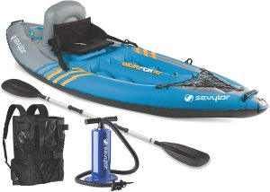 sevylor inflatable sit on top kayak 2 person