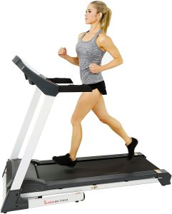 sunny health fitness foldable motorized treadmill w/manual incline - sf-t4400