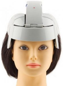 electric just head scalp massager helmet hands-free