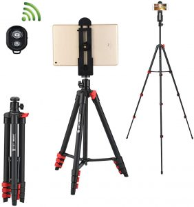 Selfie Tripod with Tablet and Phone Holder
