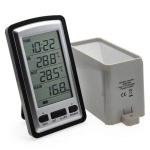 wireless weather station with rain gauge