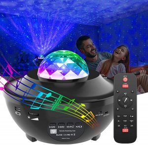 Projector Night Light Projector with Bluetooth Music Speaker