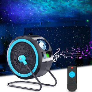 Galaxy Projector with 7 Colors Nebula, Bulit-in Music Speaker