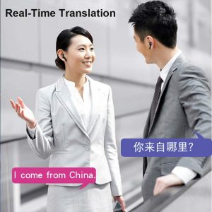33 Languages Wireless Translator Headset for Business Meeting & Traveling