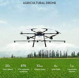 20kg payload Agricultural spraying drone
