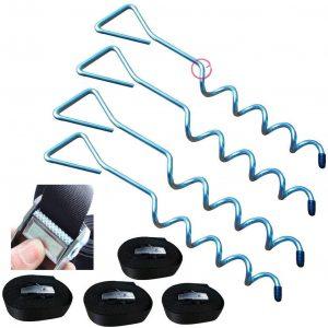 Trampoline Anchor Heavy Duty Stakes Trampoline Tie Down Kits