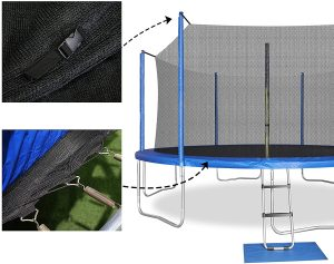 Trampoline Replacement Net Safety Enclosure Net for Round Frames