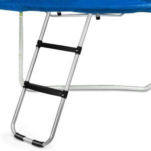 Gardenature 2-Wide-Step Ladder Attached to Trampoline