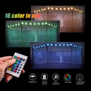 Remote Control Waterproof 100 Lamp Bead lights for trampoline
