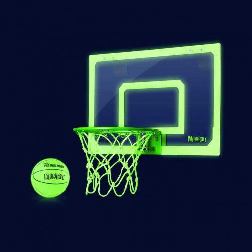 Green basketball hoop for door, wall and trampoline