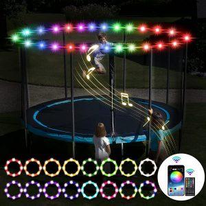 Waterproof LED Lights for Trampoline 16Ft, 15Ft, 14Ft, 12Ft, & 10Ft