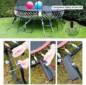 Trampoline Parts Steel Ground Wind Stake Anchors Set of 10