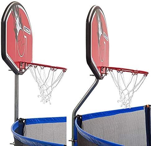 Basketball hoop set for trampoline