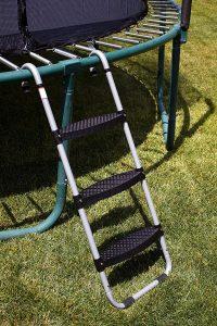 Ladder attached to trampoline