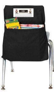 Black Seat Sack with Pocket Storage