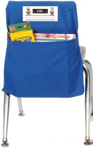 Blue Seat Sack Attached to Chair
