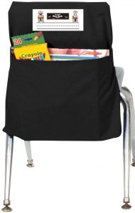 Black Seat Sack Attached to the Chair